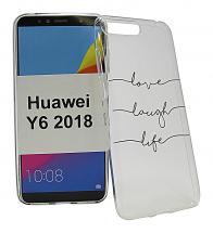 TPU Designdeksel Huawei Y6 2018