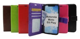 Crazy Horse Wallet Motorola Moto E6 Play