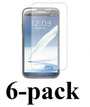 6-pakning Skjermbeskyttelse Samsung Galaxy Note 2