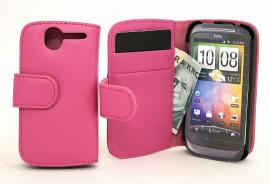 Lommebok-etui HTC Desire, Hotpink