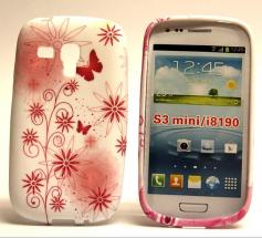 TPU Designcover Samsung Galaxy S3 Mini (Rödablommor