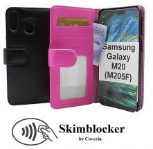 Skimblocker Lommebok-etui Samsung Galaxy M20 (M205F)