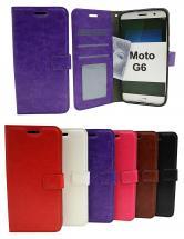 Crazy Horse Wallet Motorola Moto G6