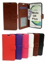 Crazy Horse Wallet Motorola Moto G6 Plus