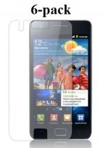 6-pakning Skjermbeskyttelse Samsung Galaxy S2