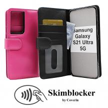 Skimblocker Lommebok-etui Samsung Galaxy S21 Ultra 5G (G998B)