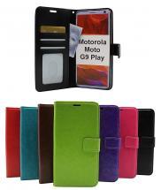 Crazy Horse Wallet Motorola Moto G9 Play