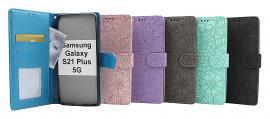 Flower Standcase Wallet Samsung Galaxy S21 Plus 5G (G996B)