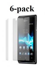 6-pakning Skjermbeskyttelse Sony Xperia E