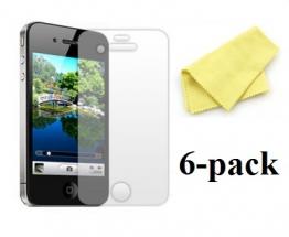 6-pakning Skjermbeskyttelse iPhone 4/4S