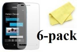 6-pakning Skjermbeskyttelse Nokia Lumia 710