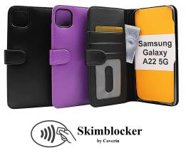 Skimblocker Lommebok-etui Samsung Galaxy A22 5G (SM-A226B)
