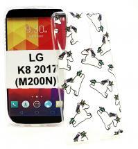 TPU Designdeksel LG K8 2017 (M200N)