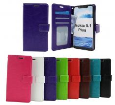 Crazy Horse Wallet Nokia 5.1 Plus