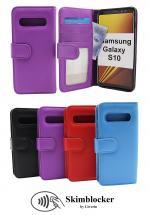 Skimblocker Lommebok-etui Samsung Galaxy S10 (G973F)