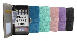 Flower Standcase Wallet iPhone 6 Plus / 7 Plus / 8 Plus