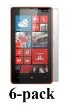 6-pakning Skjermbeskyttelse Nokia Lumia 820