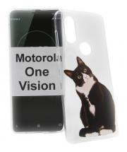 TPU Designdeksel Motorola One Vision