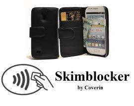 Skimblocker Lommebok-etui Samsung Galaxy S4 Mini (i9195/i9190)