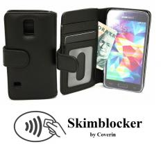 Skimblocker Lommebok-etui Samsung Galaxy S5 Mini (G800F)