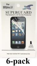 6-pakning Skjermbeskyttelse LG Optimus L9 II (D605)