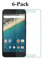 6-pakning Skjermbeskyttelse Google Nexus 5X (H791)