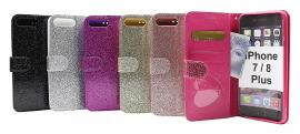 Standcase Glitter Wallet iPhone 7 Plus / 8 Plus