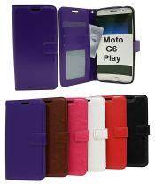 Crazy Horse Wallet Motorola Moto G6 Play