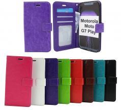 Crazy Horse Wallet Motorola Moto G7 Play