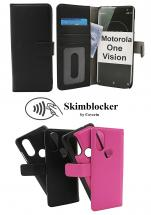 Skimblocker Magnet Wallet Motorola One Vision